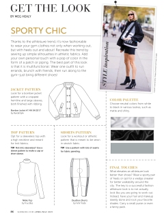 "Get The Look ""Sporty Chic"" pg.88"