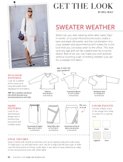 "Get The Look ""Sweater Weather"" pg.88"