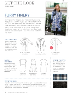 "Get The Look ""Furry Finery"" pg.86"